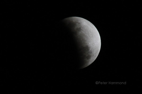 Partial lunar eclipse seen from Alice Springs, 26 June 2010, 8.43PM Australian Central Standard Time