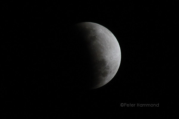 Partial lunar eclipse seen from Alice Springs, 26 June 2010, 8.51PM Australian Central Standard Time