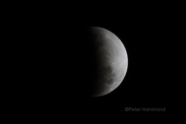 Partial lunar eclipse seen from Alice Springs, 26 June 2010, 9.04PM Australian Central Standard Time