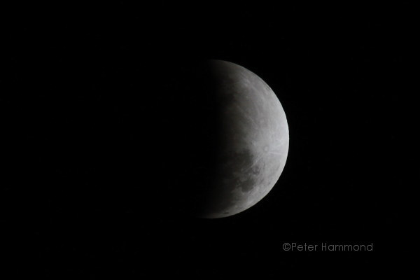 Partial lunar eclipse seen from Alice Springs, 26 June 2010, 9.09PM Australian Central Standard Time