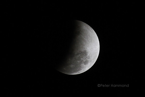Partial lunar eclipse seen from Alice Springs, 26 June 2010, 9.39PM Australian Central Standard Time