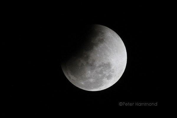 Partial lunar eclipse seen from Alice Springs, 26 June 2010, 10.06PM Australian Central Standard Time