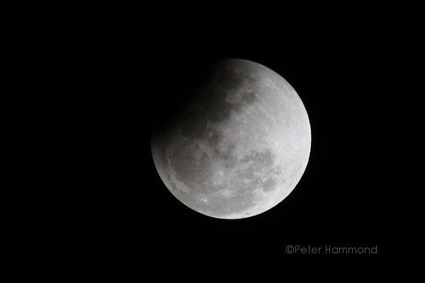 Partial lunar eclipse seen from Alice Springs, 26 June 2010, 10.14PM Australian Central Standard Time