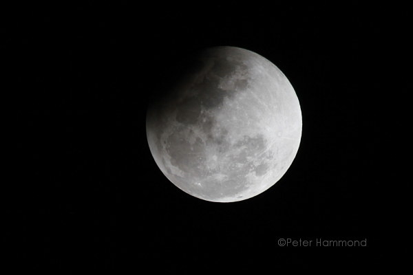 Partial lunar eclipse seen from Alice Springs, 26 June 2010, 10.20PM Australian Central Standard Time