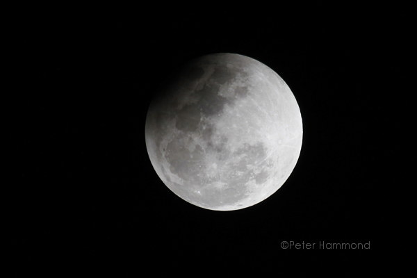 Partial lunar eclipse seen from Alice Springs, 26 June 2010, 10.25PM Australian Central Standard Time
