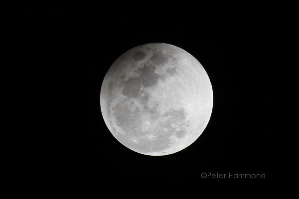 Partial lunar eclipse seen from Alice Springs, 26 June 2010, 10.36PM Australian Central Standard Time
