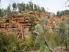 Colourful cliffs along Hidden Gorge