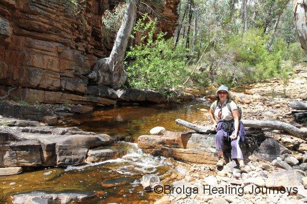 Nirbeeja enjoys a break on the Hidden Valley walk