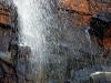 A rare sight indeed - a waterfall in central Australia, at Trephina gorge