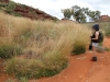 Nirbeeja admires the Spinifex Grass