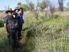 Les, Nirbeeja & Bev admire the wildflowers, Woodland walk near Simpson's Gap