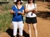 Bev & Nirbeeja at the Old Telegraph Station, Alice Springs