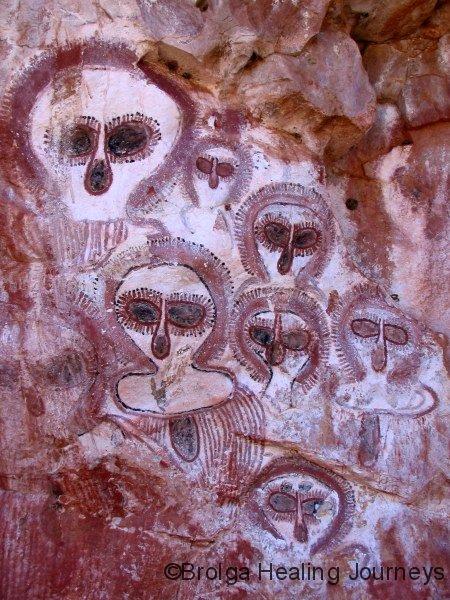 Wandjinas.  Wunnumurru Gorge, Barnett River, the Kimberley