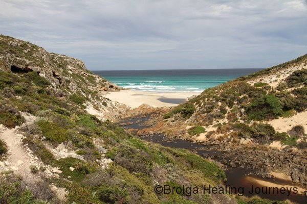 The Rocky River reaches the Southern Ocean at Maupertius Bay, Kangaroo Island, 2