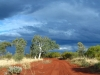 Dramatic country in the eastern Pilbara, WA, storm brewing