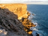 Afternoon sunstrikes the Nullarbor cliffs, SA