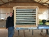 The amateur cabinet-maker with his creation - a drying cabinet for foxbait