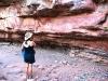 Nirbeeja contemplates Keep River rock art