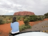 Nirbeeja waiting to see rain on Uluru.  She's still waiting.