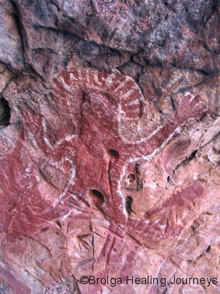 Wandjina, at first rock shelter, Gninglig, the Kimberley