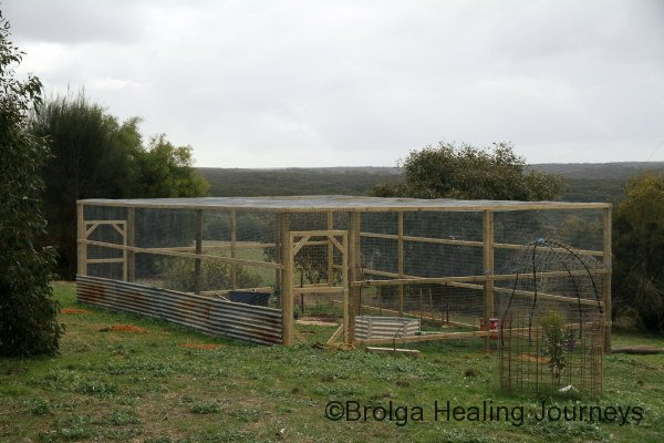 The finished vegie garden enclosure.  Now for the planting!