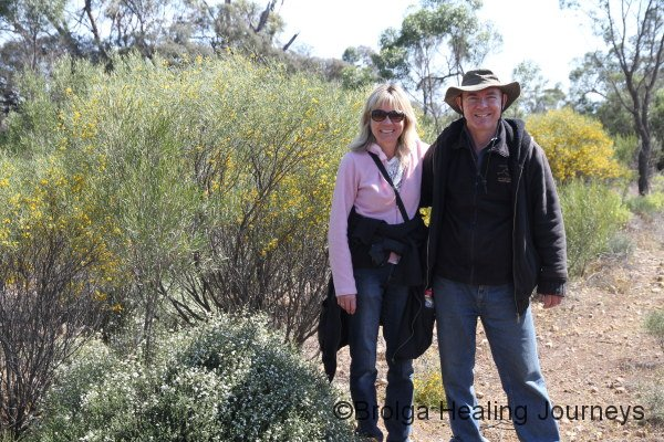 Peter with his sister Linda, who proved to be a champion Numbat-spotter.