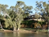 The Swan Reach Hotel - seen from the ferry ride across the Murray River.