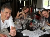 This picture tells it all!  Nirbeeja with our friends Richard and Lisa at Primo Estate winery in McLaren Vale.