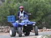 Nirbeeja shows fine form during Quad Bike training